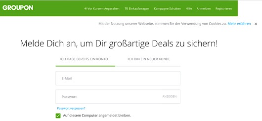 Groupon im Internet